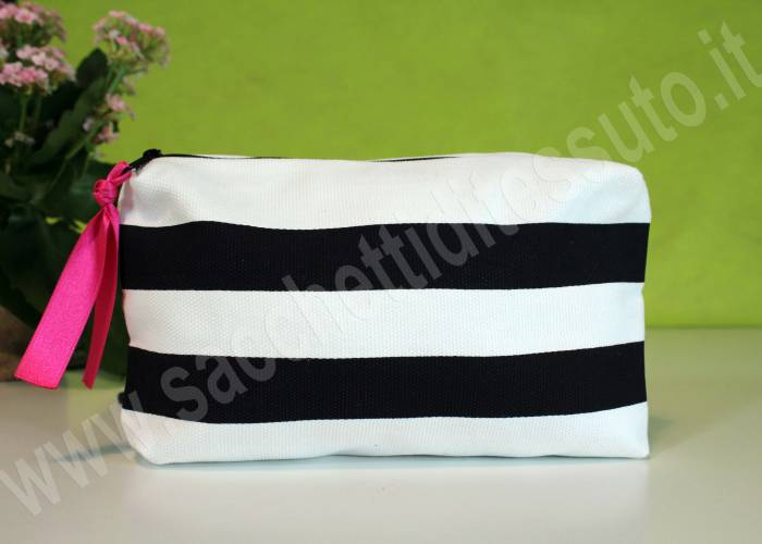 pochette per make up in cotone bio canvas pesante